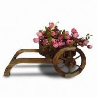 Wooden Flower Pot, Measuring 38 x 26 x 15cm, Customized Designs, Sizes and Shapes Available Manufactures