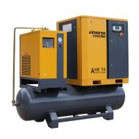 China Airhorse Portable screw air compressor 7.5kw,10hp combined with dryer,air tank and line filters on sale