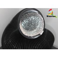 Greenhouse Ventilation Fire Rated Flexible Ducting , Black PVC Aluminum Foil Duct Manufactures
