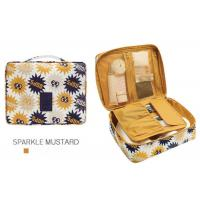 Multi Functional Travel Cosmetic Bags Waterproof Polyester With PU Coating Manufactures