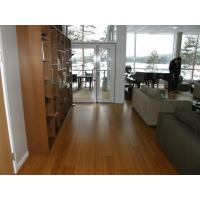 Pre-finished satin with 7 coats radiant Heating System Bamboo Flooring Manufactures