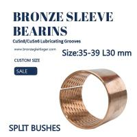 CuSn8P Split Sleeve Bronze Bushing  ID35 - 39 L30mm Stock Size Manufactures