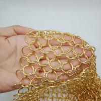 China 304 Stainless steel chain mail ring mesh for Protection metal room divider decoration partition on sale
