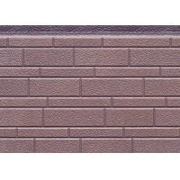 380mm Width Decorative PU Sandwich Wall Panel For Exterior , 16mm Thickness Manufactures