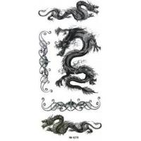 Dragon Design body art remove porous glue black temporary tattoo for children Body skin Manufactures