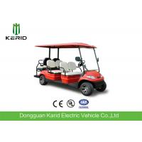 Red Color Electric Golf Carts 6 Passenger Vehicle With 4 Front Seats + 2 Rear Seats Manufactures