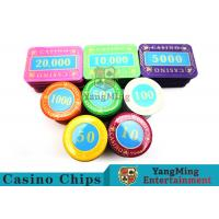 Multi - Color Print Crystal Casino Poker Chip Set Tough And Durable Manufactures