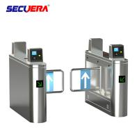 China Flap Security Turnstile Gate Face Recognition Flap Barrier 3 Years Warranty on sale