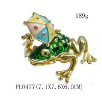 Gold Plated Metal Frog Jewelry Box Manufactures