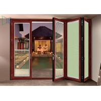 Double Glazed Aluminium Folding Doors Soundproof Energy Saving With Built In Blinds Manufactures