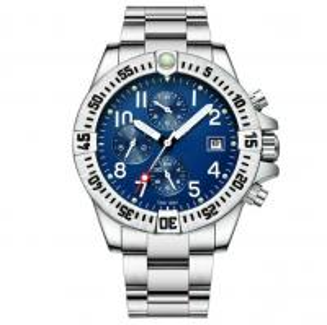 China waterproof 30m steel strap automatic mechanical watch chronograph men mechanical automatic watch on sale