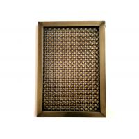 China Frame Design For Architectural Facade Mesh With Antique Copper Plated Finshed on sale