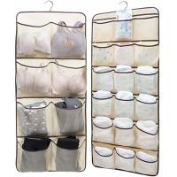Dual Sided Hanging Underwear Storage Bag With 26 Mesh Pockets & Rotating Metal for sale