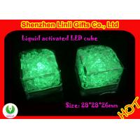Plastic customized green lighted Ice Cube FB12045 as Barware gifts and promotional gifts Manufactures