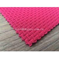 2mm Red Neoprene Fabric Roll with Both Nylon Embossed Production For Clothing Manufactures