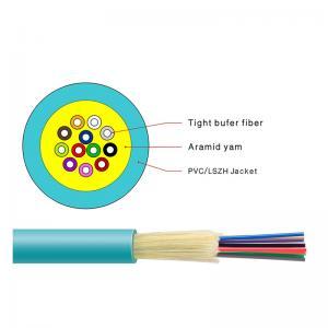 Flame Retardant OM3 150/300 Indoor Fiber Optic Cable 6 / 8 / 10 Core Manufactures