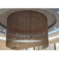 High Strength Aluminum Coil Drapery , Hanging Chain Curtains / Ceiling Curtains Manufactures