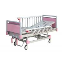 Two Cranks Manual Pediatric Hospital Bed , Pediatric Medical Bed With Dinning Table Manufactures