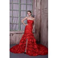 Elegant Strapless Mermaid Taffeta Red Evening Party Dress Online Shop 2013 Manufactures