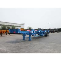 Large Capacity Flatbed Container Trailer Detachable High Strength Chassis Manufactures
