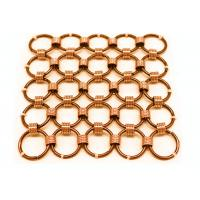 Metal Mesh Drapery / Brass Wire Ring Mesh Curtain Conect With 8mm Circle Dia Manufactures
