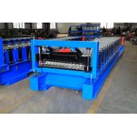 High Efficiency Corrugated Roof Roll Forming Machine With Cr12Mov Cutter Manufactures