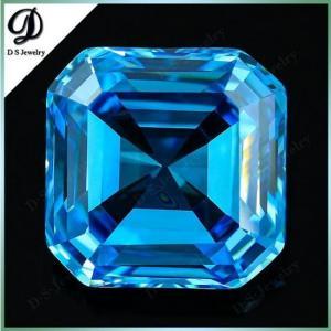 20*20mm aquamarine loose asscher cut gemstone