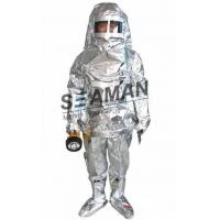 Marine Fire Fighting Equipment / Aluminum Foil Composite Fabric Heat Insulation Fireman Protective Suit Manufactures
