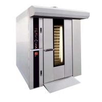32 Trays Gas Rotary Rack Oven For Bread with stianless steel body sliver color Manufactures