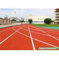 SSGsportsurface Full PU Mixed Recycled Rubber Running Track Playground Flooring Manufactures