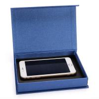 Fancy Cell Phone Accessories Packaging Box Blue Color Clamshell Style Manufactures