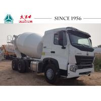 Durable HOWO Concrete Mixer Truck Smooth Operation With 380 Hp Euro IV Engine Manufactures