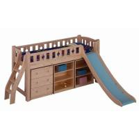Loft bunk bed slide