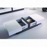 Functional Coffee Table with MDF and High-gloss Painting, High-quality Hardware Manufactures