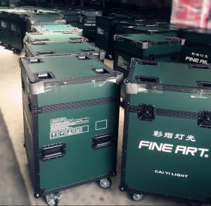 Turquoise Green Rack Flight Cases 60cm * 60cm * 70cm For Store / Transport Manufactures