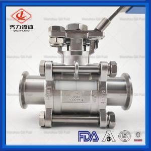 China Manual 3PC Sanitary Tri Clamp Ball Valve PTFE High Platform Encapsulate on sale