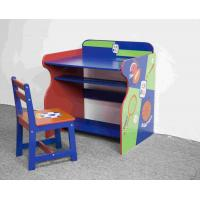 China Wooden Sports Themed Drawing - Study Desk Chair Set For Toddler on sale