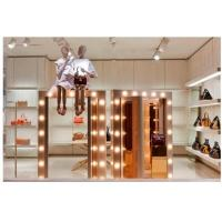 Plated Pink Gold Handbag Window Display With LED / Mirror Decoration Durable Manufactures