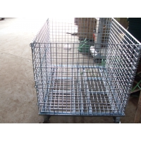 China Wholesale collapsible Wire Container, 40*32*35.5 Mesh 2 * 2 Diameter 6mm Capacity 2,800 LBS with Casters on sale