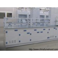 White Chemistry Lab Furniture Phenol Formaldehyde Resin Bench With PP Cabinet Manufactures