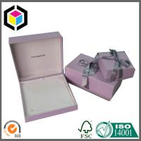 China Pink Color Luxury Jewelry Paper Gift Box Packaging Box with Ribbon on sale