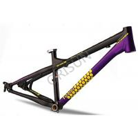 4X / Slopestyle Bike Frames , 26 Inch Black Bmx Frame With Rear Dropouts Manufactures