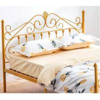 Wrought Iron Metal Double Bed Queen Sizes 0.6-1.5mm Thick Steel Pipe Manufactures