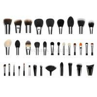 China Professional  Private Label Makeup Brushes With Silver Copper Ferrule 35 pcs on sale
