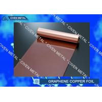 Rolled Copper Foil For Graphene 400mm 600mm Width , Thin Copper Sheets Manufactures