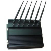 6 Antenna Cell Phone Signal Jammer , High Power Desktop Cell Phone WIFI Jammer Manufactures