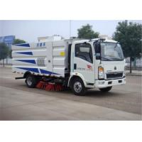 China Euro II RHD 2 Axles Road Sweeper Truck Water Saving Wet Type Street Cleaning Machine on sale