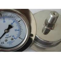 0 - 10 Bar Oil Filled Pressure Gauge , Industrial Back Mount Pressure Gauge Manufactures