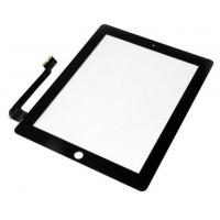 Anti-Fingerprint Ipad LCD Screen For Ipad 4 Digitizer / Touch Screen Black Manufactures