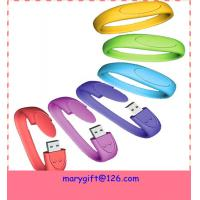 Buy cheap cheap custom made silicone wristband usb flash drive from wholesalers